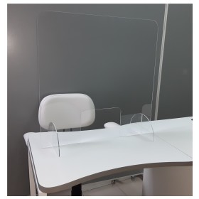 Acrílico Separador p/mesa Manicure/Balcão AS01